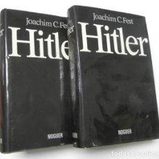 Libros de segunda mano: HITLER - JOACHIM C. FEST (2 TOMOS). Lote 118171571