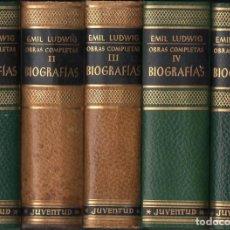 Libros de segunda mano: EMIL LUDWIG : OBRAS COMPLETAS - BIOGRAFÍAS - 5 TOMOS (JUVENTUD, 1966) PLENA PIEL - COMO NUEVOS. Lote 119699859