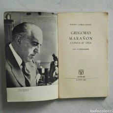 Libros de segunda mano: GREGORIO MARAÑÓN CUENTA SU VIDA 1961 AGUILAR SIN TAPAS. Lote 121657415
