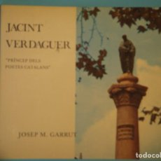 Libros de segunda mano: JACINT VERDAGUER (PRINCEP DELS POETES CATALANS) - JOSEP M. GARRUT - AJUNTAMENT DE BARCELONA 1977 . Lote 122596095