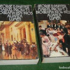 Libros de segunda mano: MARCEL PROUST. BIOGRAFÍA. GEORGE D. PAINTER - 2 VOLS. ALIANZA EDITORIAL NUM.354-355 - 1972. Lote 126855991