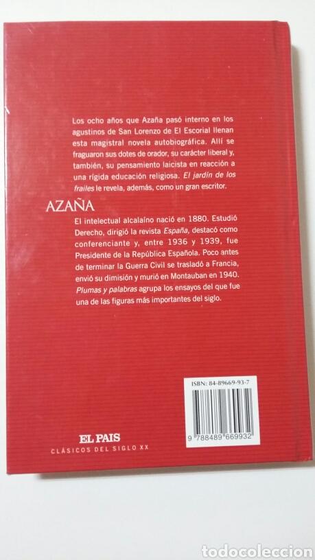 Libros de segunda mano: El jardín de los frailes. Manuel Azaña. 2003 - Foto 2 - 127596446