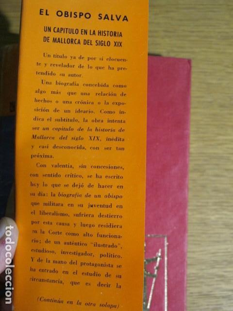 Libros de segunda mano: El obispo Salva, un capítulo en la Hª del s. XIX. Antonio Perez Ramos, 1968, Palma de Mallorcaa - Foto 2 - 128789875