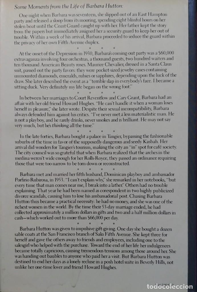 Libros de segunda mano: POOR LITTLE RICH GIRL: THE LIFE AND LEGEND OF BARBARA HUTTON / C. DAVID HEYMANN. RANDOM HOUSE, 1983. - Foto 2 - 130634018