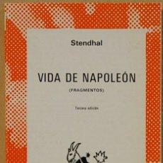 Libros de segunda mano: VIDA DE NAPOLEON.-STENDHAL.COLECCION AUSTRAL Nº1152.ESPASA-CALPE. Lote 131008940