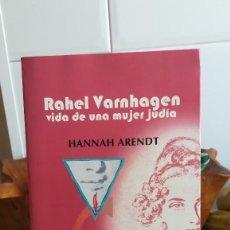 Libros de segunda mano: RAHEL VARNHAGEN. VIDA DE UNA MUJER JUDÍA. - HANNAH ARENDT. LUMEN. 2000.. Lote 131134052