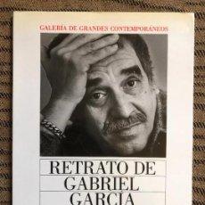 Libros de segunda mano: LIBRO RETRATO DE GABRIEL GARCIA MARQUEZ JUAN LUIS CEBRIAN GALERIA DE GRANDES CONTEMPORANEOS FOTOS. Lote 132114190