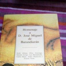 Libros de segunda mano: HOMENAJE A D. JOSÉ MIGUEL DE BARANDIARAN VVAA ILUSTRADO TEMAS VIZCAINOS. Lote 133146346