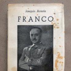 Libros de segunda mano: FRANCO. JOAQUÍN ARRIBAS. EDICIONES ATLAS 1938. EDICIÓN AUMENTADA.. Lote 133733221