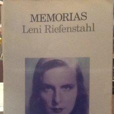 Libros de segunda mano: MEMORIAS - LENI RIEFENSTAHL - ED. LUMEN. Lote 133953666