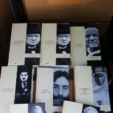 Libros de segunda mano: BIBLIOTECA ABC PROTAGONISTAS DE LA HISTORIA: JOHN LENNON, MARILYN MONROE, CHARLES CHAPLIN, ETC.. Lote 134062698