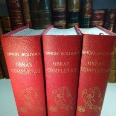 Libros de segunda mano: OBRAS COMPLETAS - SIMÓN BOLIVAR - 3 VOLÚMENES - EDICIONES LISAMA - CARACAS - CIRCA 1970 -. Lote 134396434