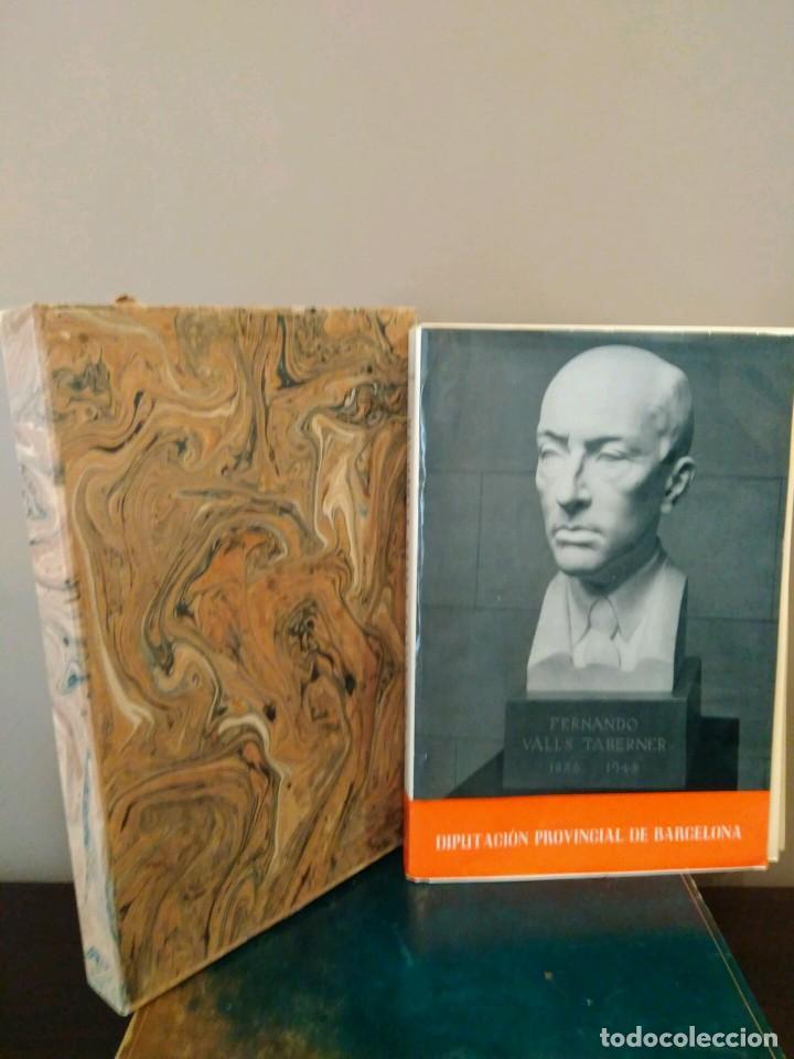 FRENANDO VALLS TABERNER 1888 - 1942 - DIPUTACION PROVINCIAL DE BARCELONA 1964. (Libros de Segunda Mano - Biografías)