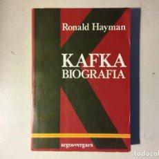Libros de segunda mano: KAFKA BIOGRAFÍA. Lote 139316738