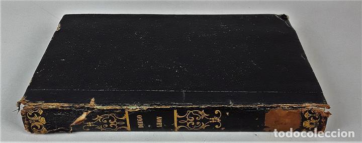VIDA MILITAR Y POLÍTICA DE DIEGO LEON. C. MASSA. EST. JUAN MANINI. MADRID. 1843. (Libros de Segunda Mano - Biografías)