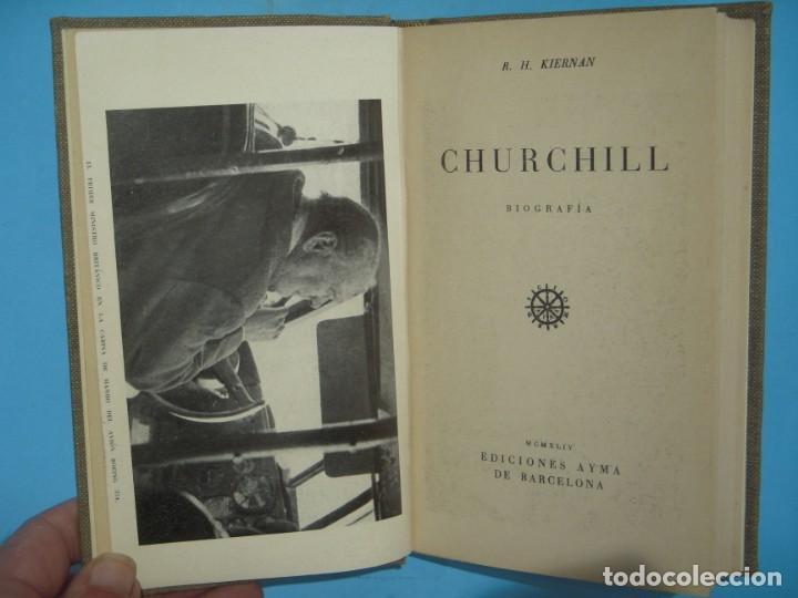 CHURCHILL, BIOGRAFIA - R.H. KIERNAN - EDICIONES AYMA, 1944, 1ª EDICION (TAPA DURA, BUEN ESTADO) (Libros de Segunda Mano - Biografías)