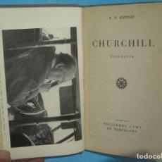 Libros de segunda mano: CHURCHILL, BIOGRAFIA - R.H. KIERNAN - EDICIONES AYMA, 1944, 1ª EDICION (TAPA DURA, BUEN ESTADO). Lote 140140886