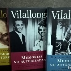 Libros de segunda mano: VILALLONGA: MEMORIAS NO AUTORIZADAS 3 TOMOS. ILUSTRADO.. Lote 140301018