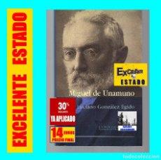 Libros de segunda mano: MIGUEL DE UNAMUNO - LUCIANO GONZÁLEZ EGIDO - ILUSTRADO - TAPA DURA - EXCELENTE - 14 EUROS. Lote 140713758