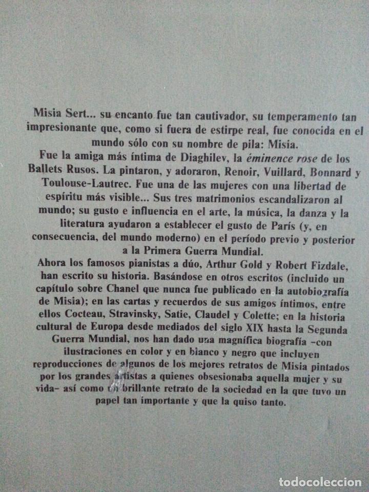 Libros de segunda mano: MISIA. LA VIDA DE MISIA SERT - ARTHUR GOLD / ROBERT FIZDALE - 1ª EDICIÓN, DESTINO, 1985 - Foto 4 - 140801726