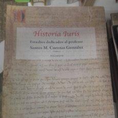 Libros de segunda mano: HISTORIA IURIS - ESTUDIOS DEDICADOS AL PROFESOR SANTOS M.GONZALEZ. Lote 141263728