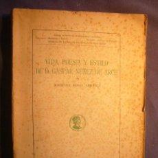 Libros de segunda mano: JOSEFINA ROMO: -VIDA, POESIA Y ESTILO DE D. GASPAR NUÑEZ DE ARCE - (MADRID, 1946). Lote 142853810