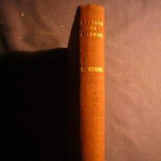Libros de segunda mano: GUSTAVO VON BERGMANN: - MEMORIAS - (BARCELONA, 1965) (MEDICINA). Lote 144065550