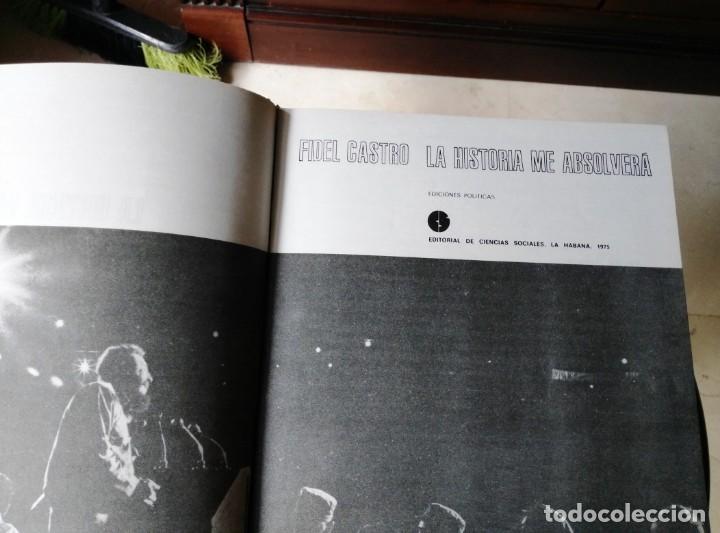 Libros de segunda mano: LA HISTORIA ME ABSOLVERÁ FIDEL CASTRO COMPLETO CON CAJA 1975. - Foto 4 - 145105650