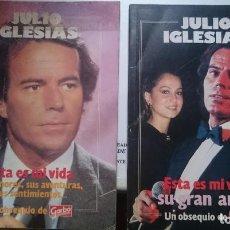 Libros de segunda mano: JULIO IGLESIAS -- ESTA ES MI VIDA - 2 LIBROS DE ED GARBO. Lote 146446966