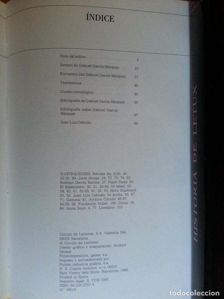 Libros de segunda mano: RETRATO DE GABRIEL GARCÍA MÁRQUEZ - JUAN LUIS CEBRIÁN (CÍRCULO DE LECTORES, 1989) - Foto 6 - 146684522