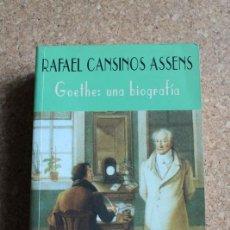 Libros de segunda mano: GOETHE: UNA BIOGRAFÍA. PRÓLOGO Y NOTAS DE LUIS FERNANDO MORENO CLAROS. CANSINOS ASSENS (RAFAEL). Lote 147045906