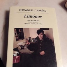 Libros de segunda mano: LIMONOV, DE EMMANUEL CARRERE. ANAGRAMA. RUSIA, UNION SOVIÉTICA, PUTIN. Lote 148990482