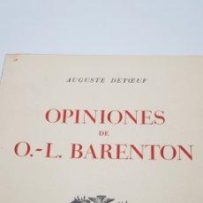 Libros de segunda mano: OPINIONES DE BARENTON. Lote 149320614