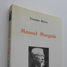 Livres d'occasion: MANUEL MURGUÍA - RISCO, VICENTE. Lote 150109641