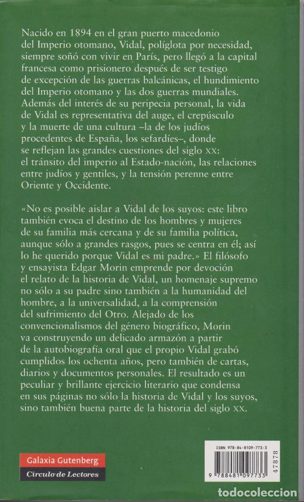 Libros de segunda mano: VIDAL Y LOS SUYOS. EDGAR MORIN - Foto 2 - 151604926