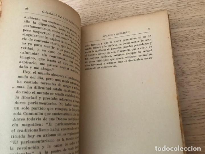 Libros de segunda mano: GALERIA DE LOS PRECURSORES. APARISI Y GUIJARRO. ESTEBAN BILBAO EGUÍA. - Foto 3 - 152292410
