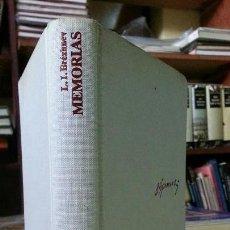 Libros de segunda mano: MEMORIAS - L.I. BRÉZHNEV - RAMÓN MENDOZA ED. - AÑO 1979. Lote 152482794