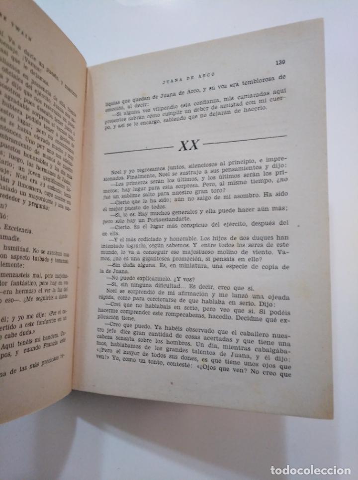 Libros de segunda mano: JUANA DE ARCO. 1949. MARK TWAIN. EDICIONES TESORO SIGLO XX. TDK374 - Foto 3 - 154676578