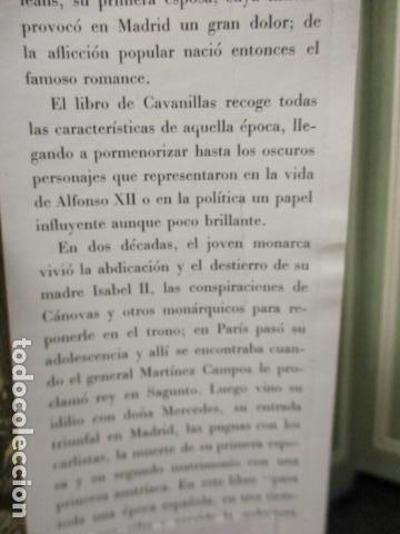 Libros de segunda mano: ALFONSO XII el Rey romántico - CORTES CAVANILLAS - Ed JUVENTUD 1969 - ILUSTRADO TAPA DURA - Foto 9 - 155864558