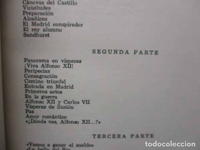 Libros de segunda mano: ALFONSO XII el Rey romántico - CORTES CAVANILLAS - Ed JUVENTUD 1969 - ILUSTRADO TAPA DURA - Foto 17 - 155864558