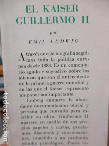 Libros de segunda mano: EL KAISER GUILLERMO II. LUDWING, EMIL. - Foto 4 - 155866250