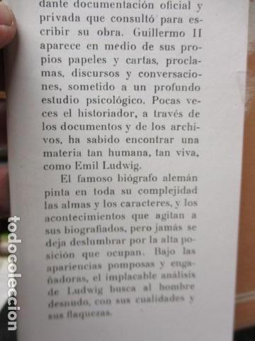 Libros de segunda mano: EL KAISER GUILLERMO II. LUDWING, EMIL. - Foto 8 - 155866250