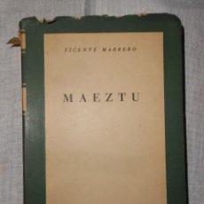Libri di seconda mano: MAEZTU. VICENTE MARRERO. 1955.. Lote 155909958