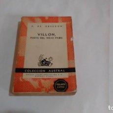 Libros de segunda mano: VILLLON - POR A. DE OBREGON. Lote 156399226