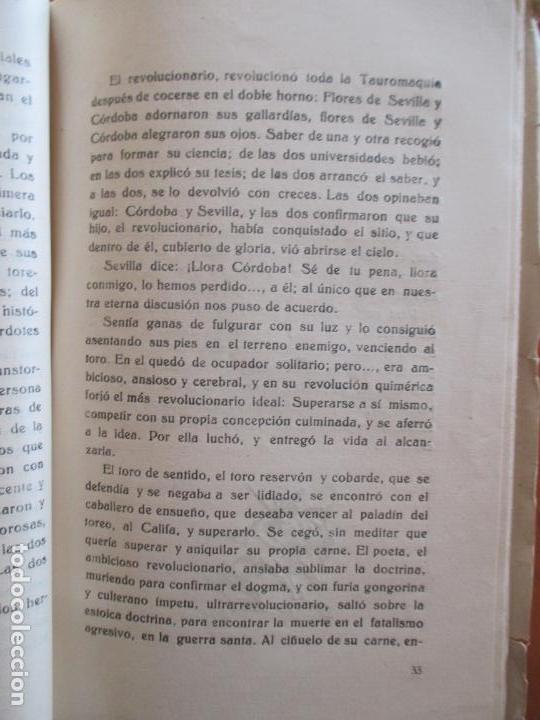 Libros de segunda mano: TORERO DE LEYENDA. MANOLETE. A. ORTIZ VILLATORO. 1947 - Foto 3 - 160665026