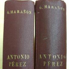 Libros de segunda mano: ANTONIO PÉREZ (EL HOMBRE, EL DRAMA, LA ÉPOCA) - G. MARAÑÓN - 2 VOLS.,COMPLETA - ESPASA C., 1948-1958. Lote 162623894