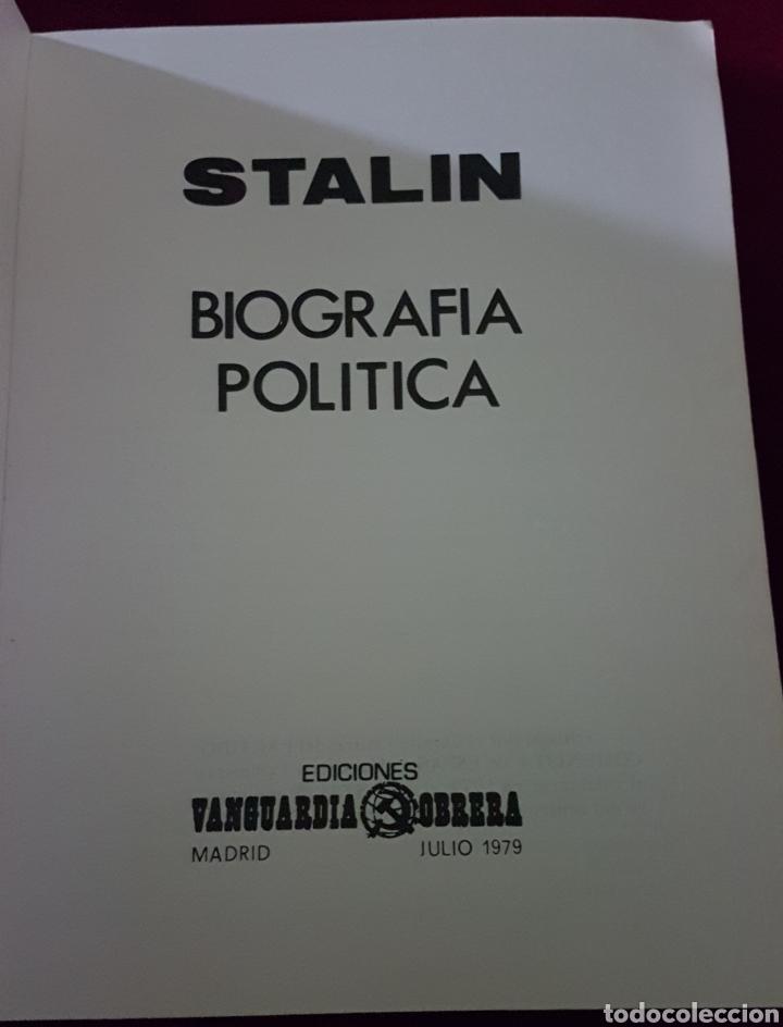 Libros de segunda mano: Libro Stalin edic vanguardia obrera Madrid 1979 - Foto 2 - 162970905