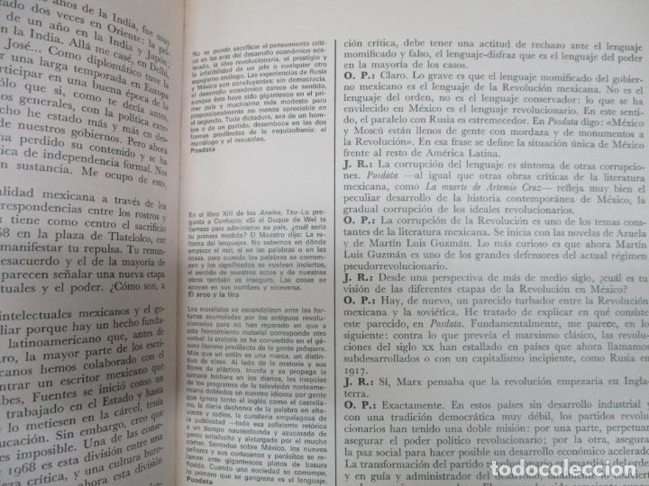 Libros de segunda mano: SOLO A DOS VOCES. PAZ, Octavio; RÍOS, Julián. 1973. PRIMERA EDICIÓN. - Foto 3 - 165092382