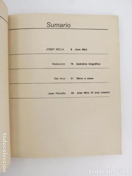 Libros de segunda mano: NUESTROS CONTEMPORÁNEOS 2. JOAN MIRÓ (Josep Melia) Dopesa, 1971 Dopesa, Barcelona, 1971. - Foto 6 - 166692486