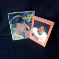 Libros de segunda mano: CLAUDIA DE ICAZA Y VARIOS AUTORES - LUIS MIGUEL, EL GRAN SOLITARIO Y LA LLAMA VIVA - 2 LIBROS. Lote 167189720